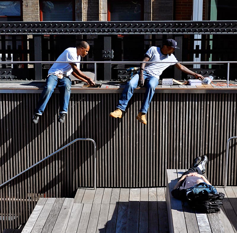 At work, at rest on the High Line; click for previous post