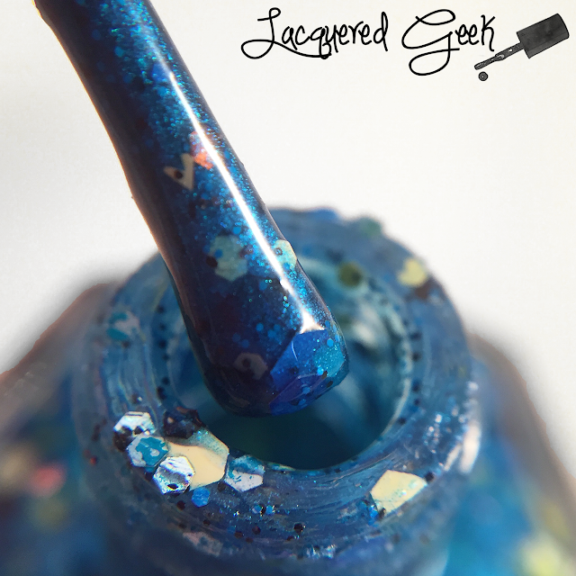 My Ten Friends Starry Night nail polish bottle shot by Lacquered Geek