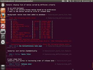 Captura de pantalla de Behavior driven development con Cucumber