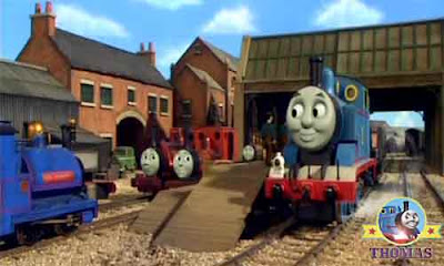 Thomas the train Sir Handel tank engine tells the unsolved mysterious legend of the man in the hills