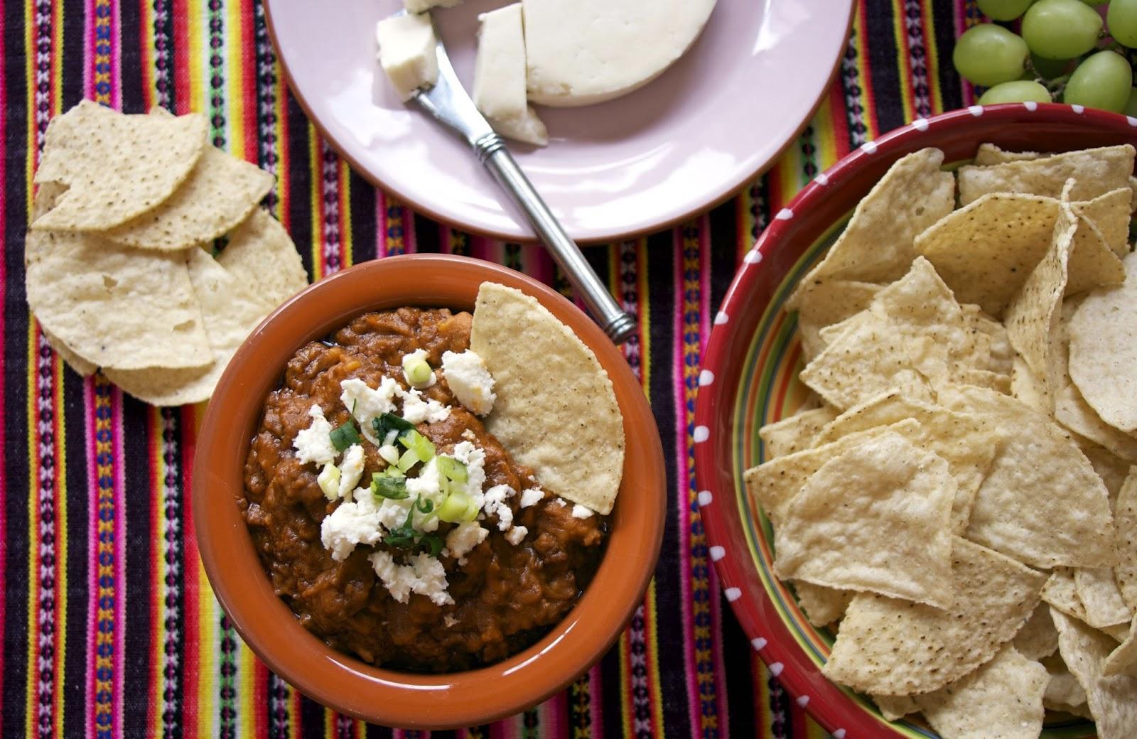 Chorizo & Refried Bean Dip: simplelivingeating.com