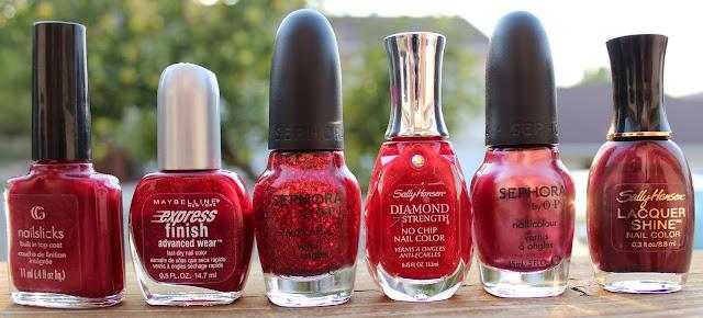 Polish stash - Reds
