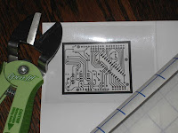Magic Mouth PCB vinyl sticker for toner transfer