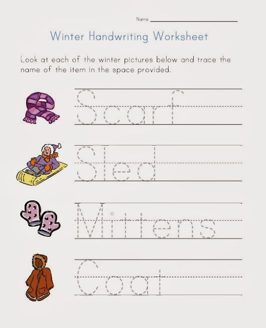 Handwriting Worksheets Kindergarten