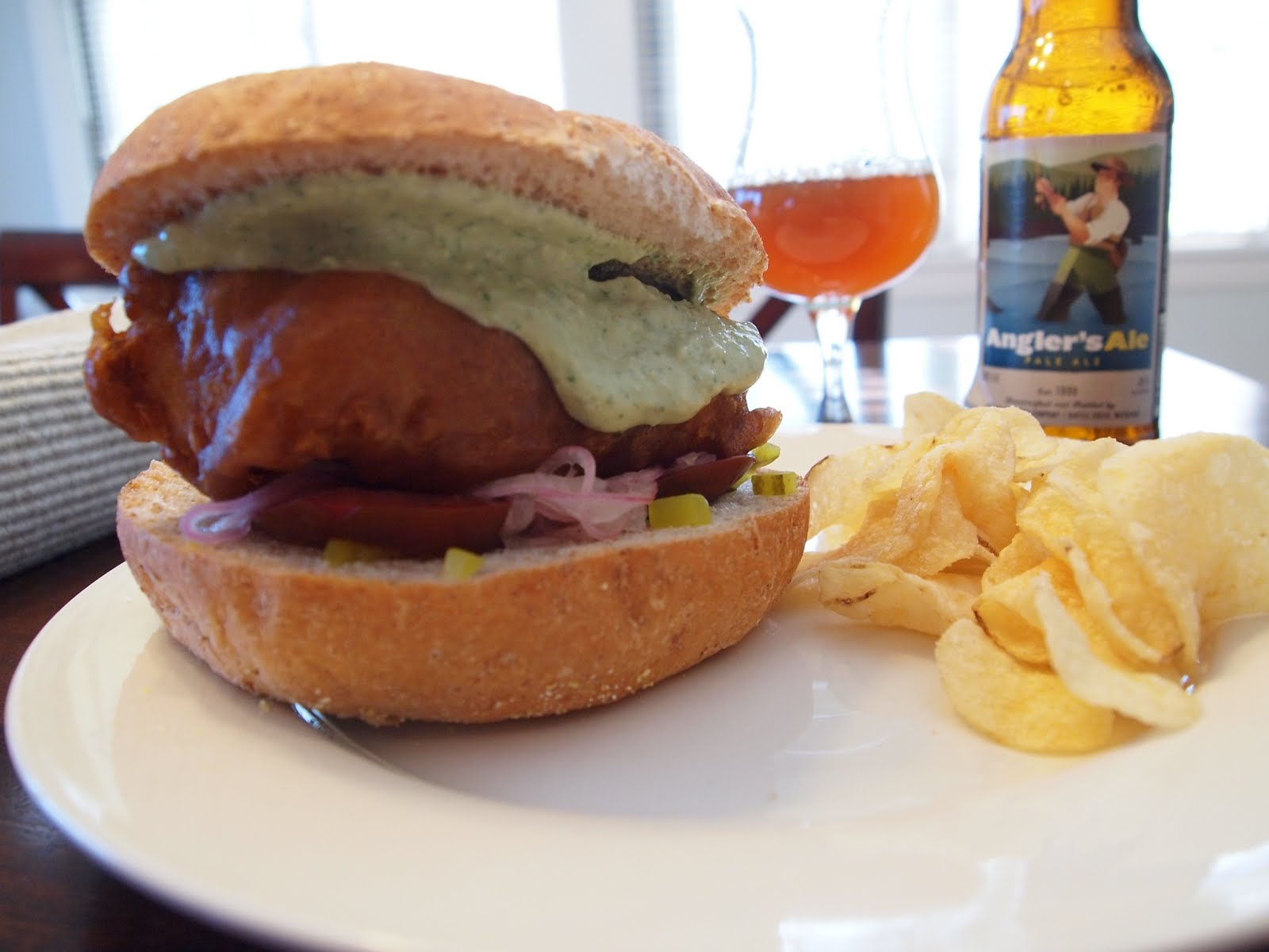 Beer Battered Fish Sandwich The crispy beer batter is?