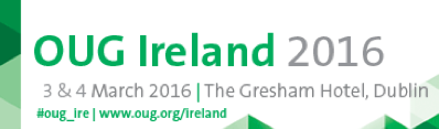 I'm Presenting at OUG Ireland 2016