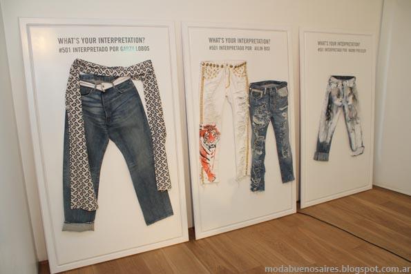 pantalones de jeans Levi's otoño invierno 2013