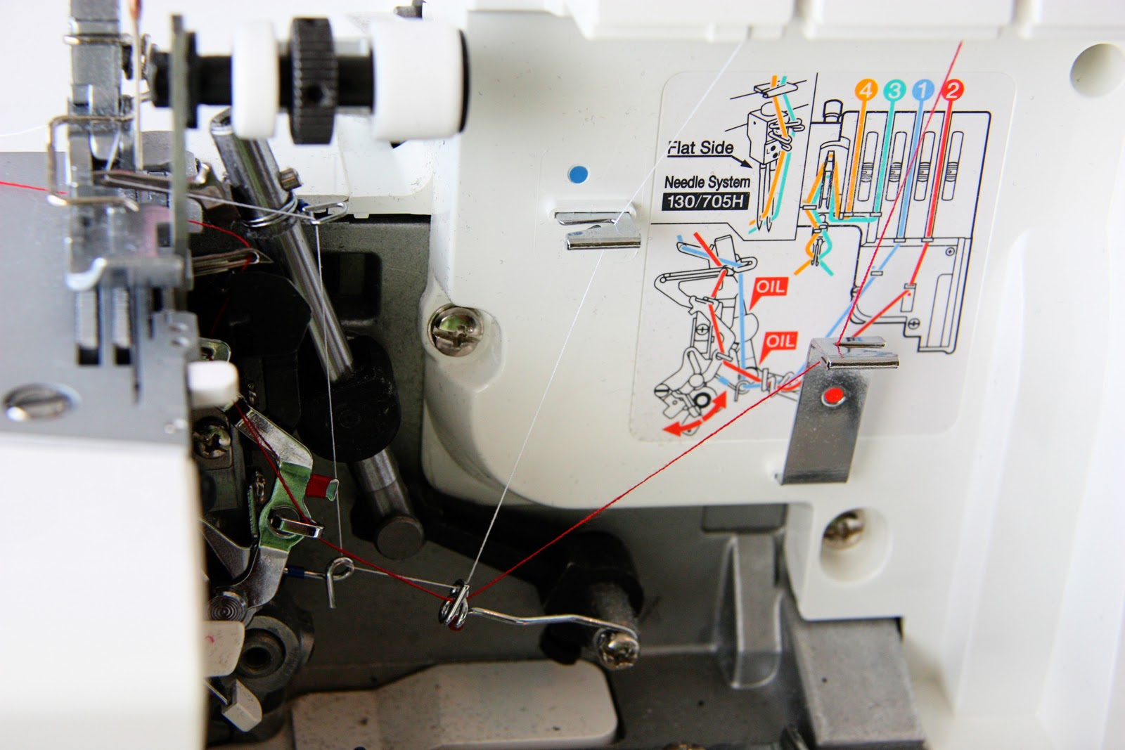 Using A Serger Make It And Love This Is How The Machine Should Be Threaded That You Thread Through Bottom Of Can Seem Complicated But Most Machines Have Diagrams Right On To Help Out