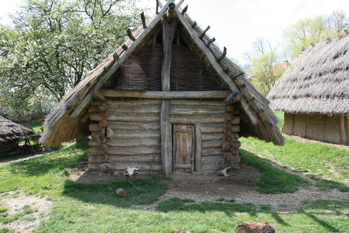 Old European Culture Log Cabin