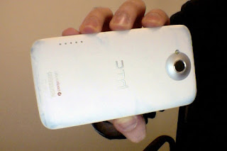 New HTC One X Android smartphone easily stained in white matte finish