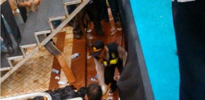 Gambar Foto Video Jenazah Bakar Diri dan Terjatuh di Stadion GBK