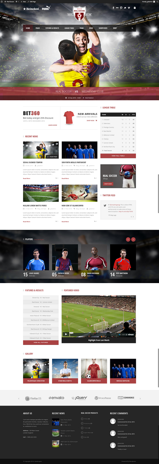 Best Sport Clubs Responsive Theme