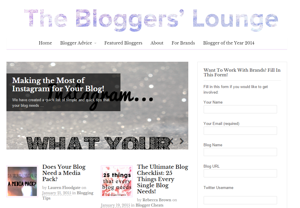 The Bloggers' Lounge Blog