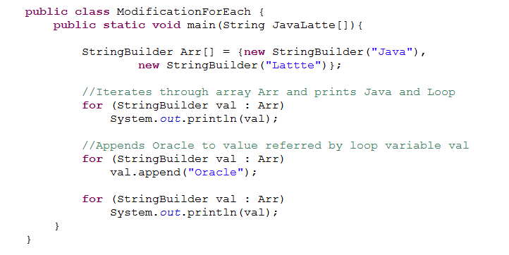 Java-Latte: Enhanced for each loop in Java