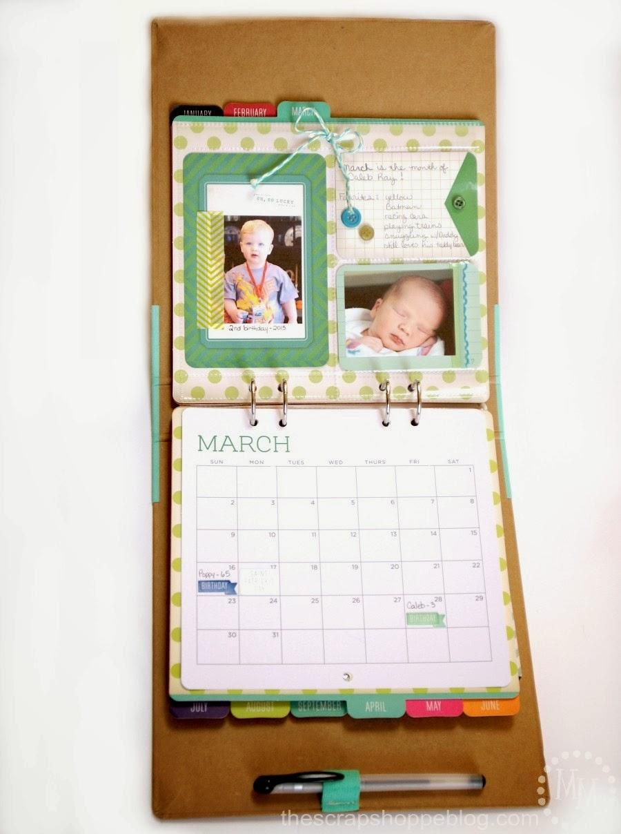Diy Calendar Michaels : Michaels recollections calendar kit the scrap shoppe