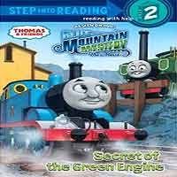 Secret of the Green Engine Thomas the train paperback book for kids with 32 pages to read