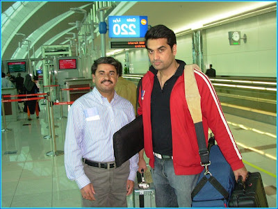 Humayun Saeed at airpot