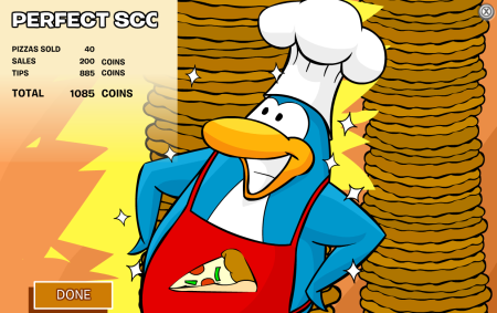 Club Penguin Pizzatron 3000 cheats perfect score