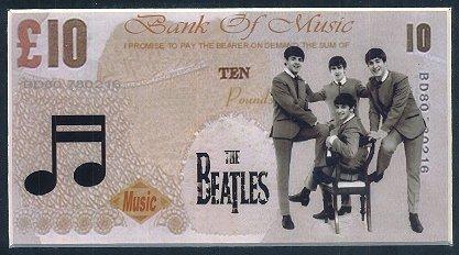 The Beatles Polska: Beatlesi na banknotach dwudziestofuntowych?