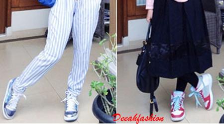 Trend Baju Muslim Remaja dan Sneaker SportyChic