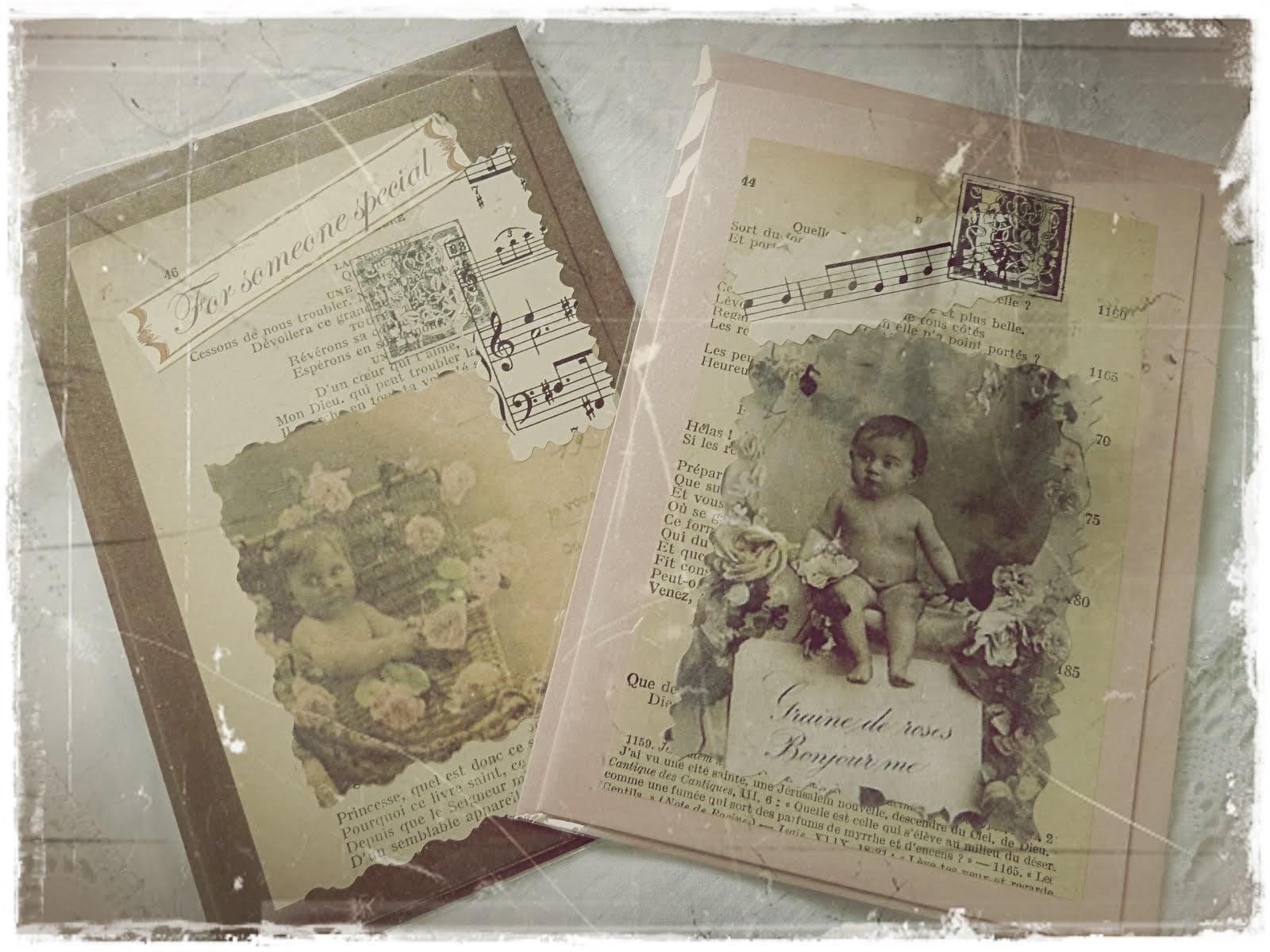 Handgemaakt nostalgische kaarten