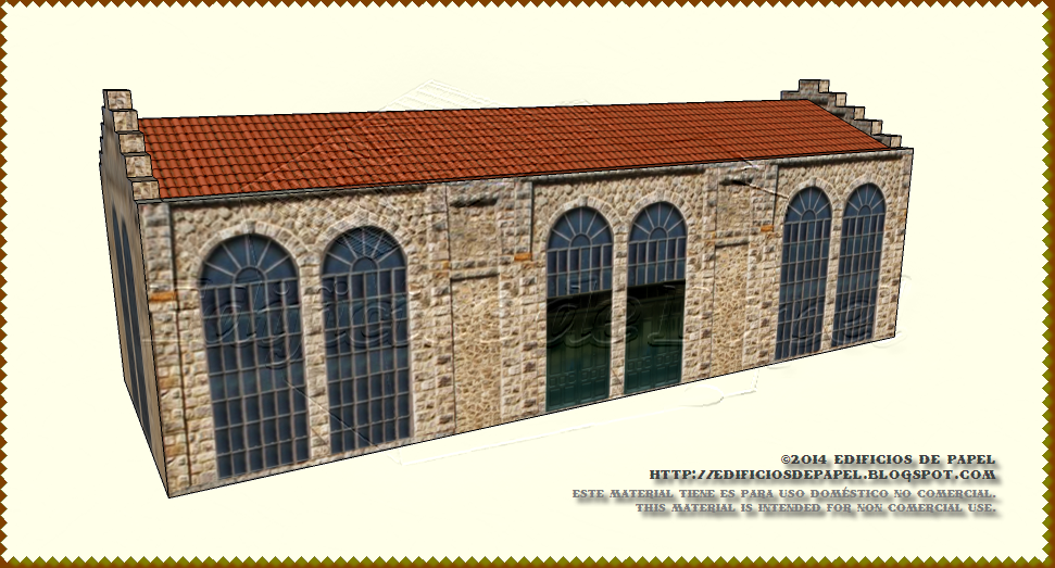 Stone and elegant window panes in this papermodel