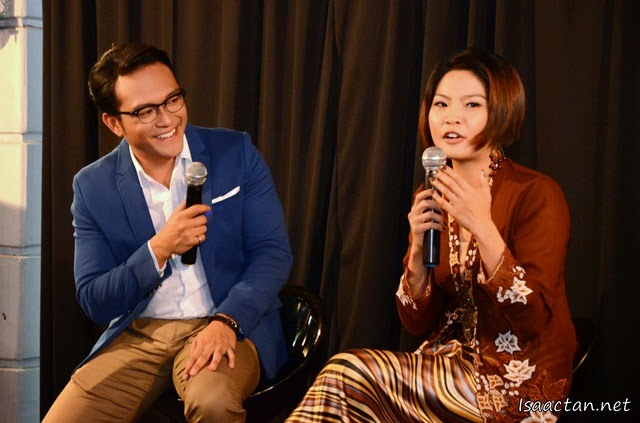 Shaheizy Sam and Chan Shiao Chew during the launch event