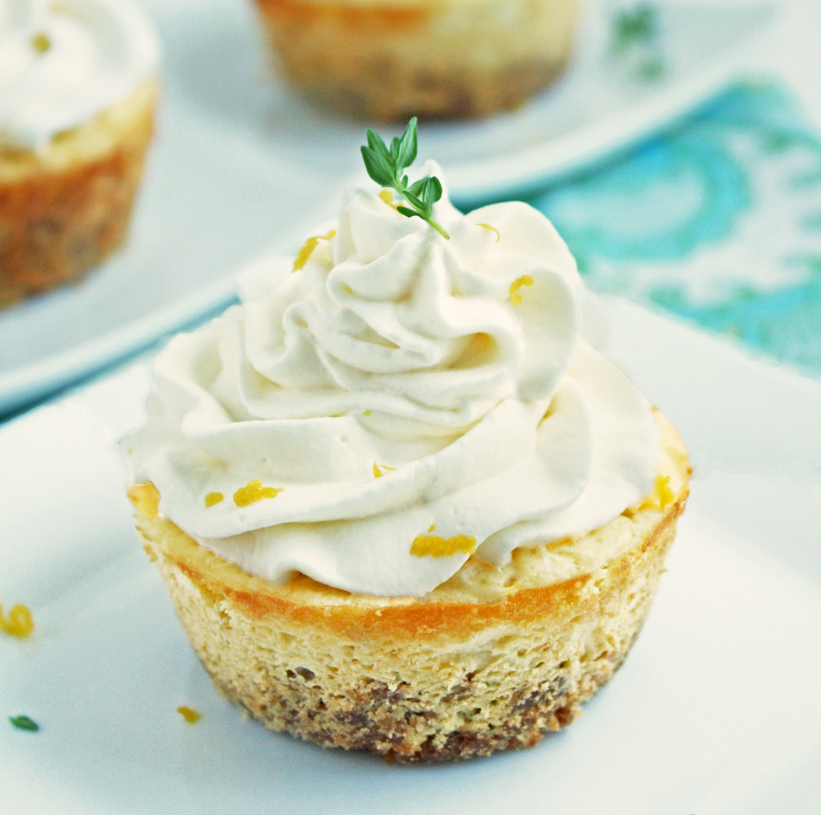 Lemon, Thyme and Chevre Cheesecakes | I Breathe I'm Hungry