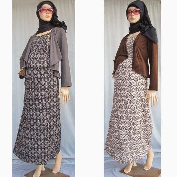 Model Baju Hamil Batik Muslim Dress