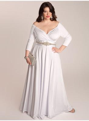 Model Dress Pesta Pernikahan Wanita Gemuk Lengan Panjang