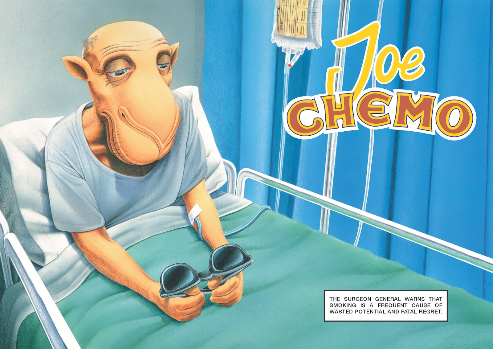 "joe chemo According to joechemoorg, joe chemo, a spoof of joe camel, ""was developed as an antismoking character by scott plous, a wesleyan university psychology professor, after his father nearly died from smoking."