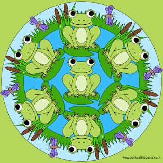 Frog mandala