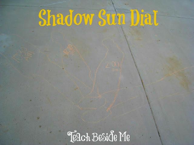 Shadow drawing sundial