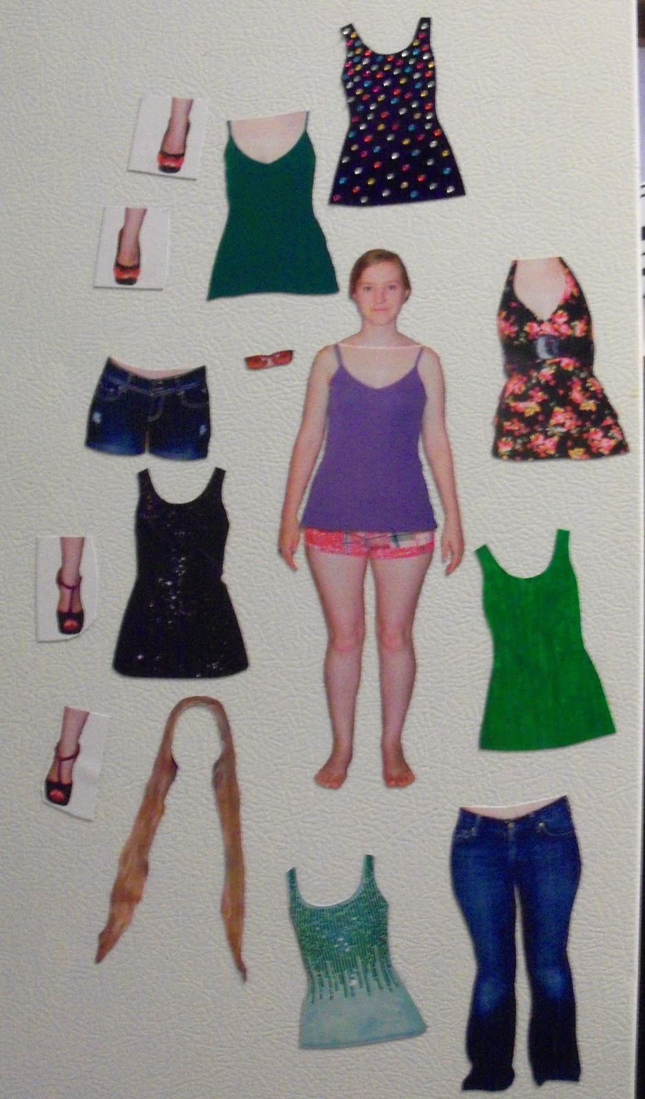 Personalized Magnetic Paper Dolls