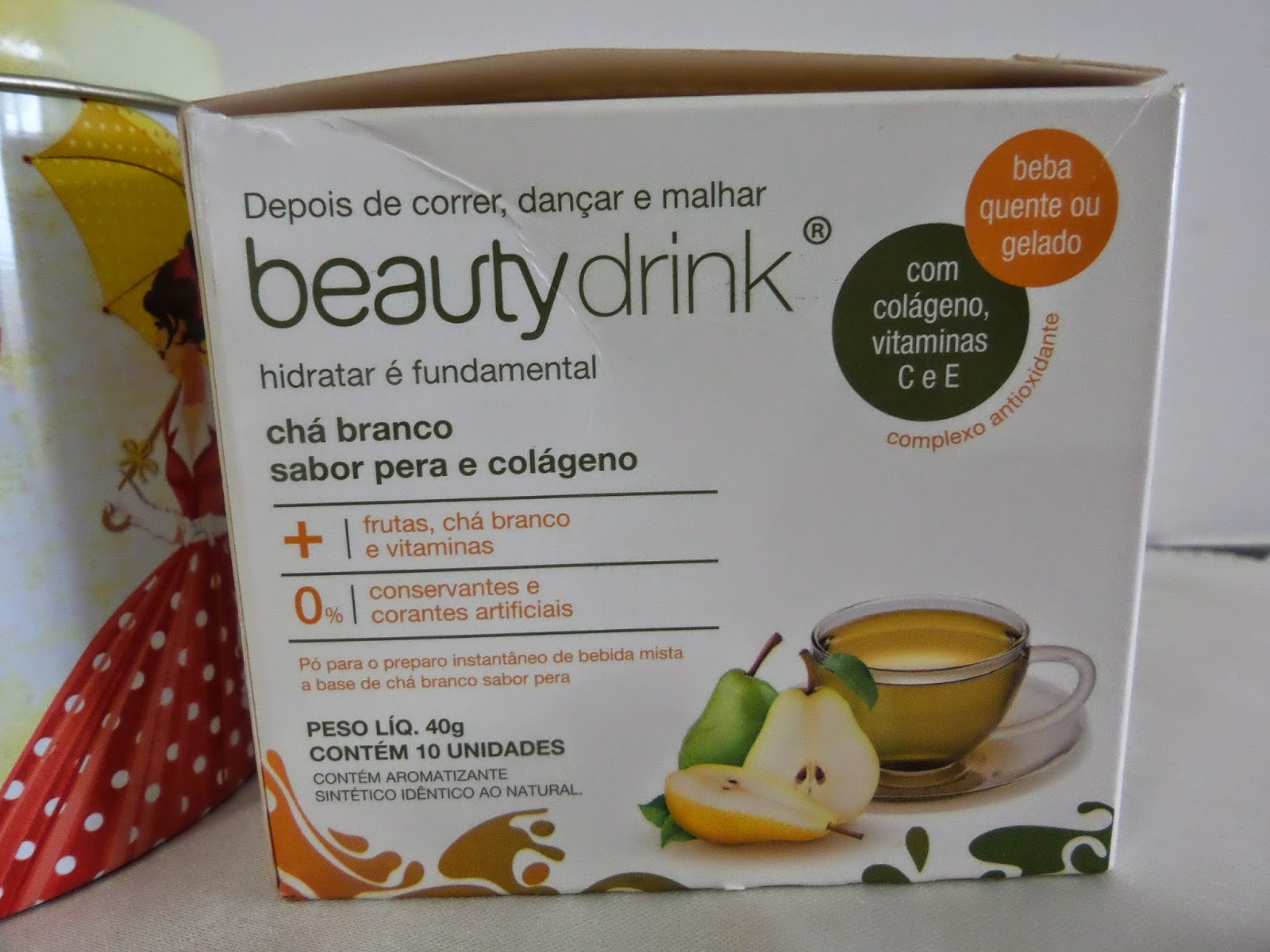Chá branco  Beauty'in  Beauty  drink  com colágeno