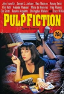 Pulp Fiction Uma Thurman tumbada en la cama fumando Portada fotogramailustrado