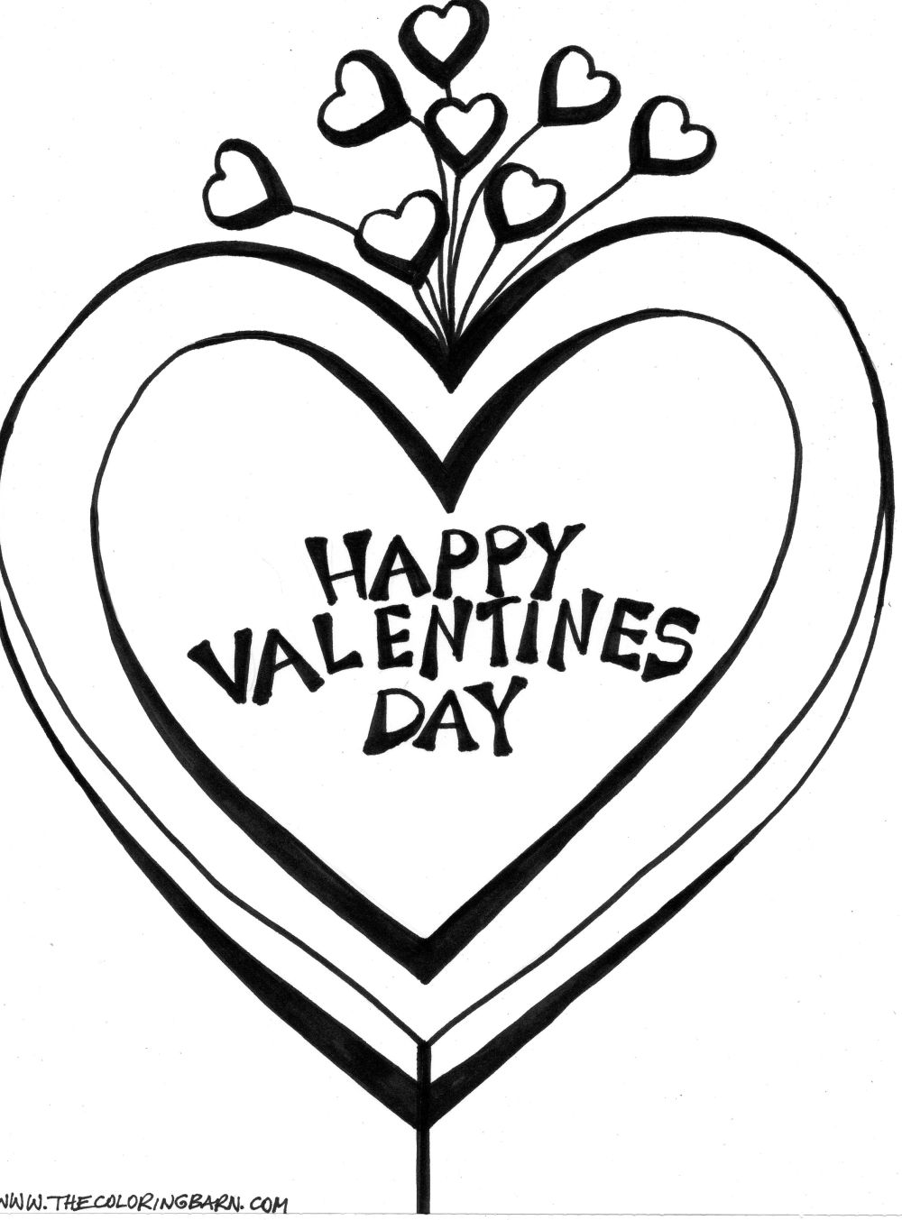 Coloring Pages Valentine Day