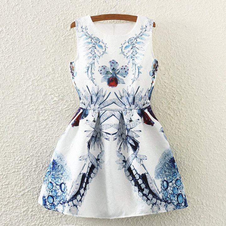 White Floral  Dress | Dress