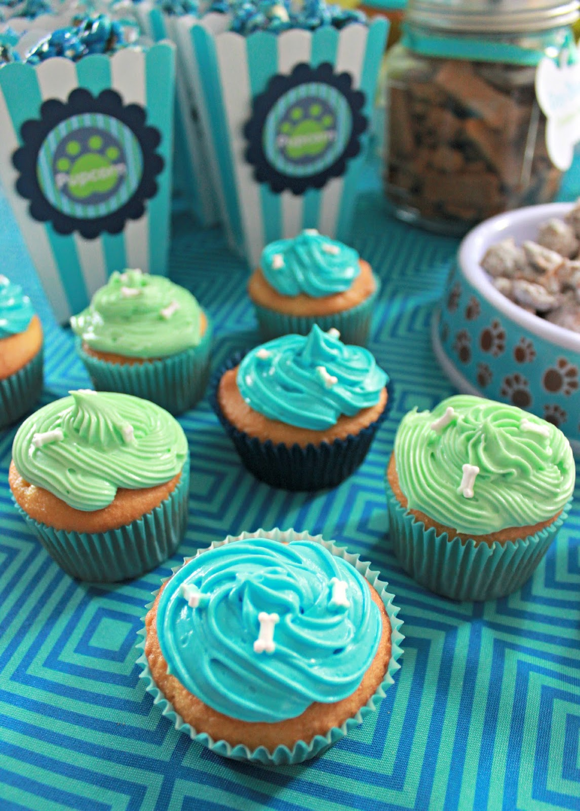 Dog Theme Party Food Ideas Cupcakes