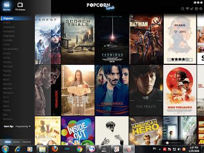 popcorn time شرح وتحميل برنامج لمشاهده الافلام والمسلسلات مجانا