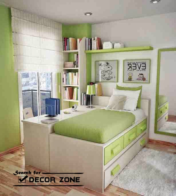 Bedroom Paint Ideas For Small Bedrooms Part - 45: White-pale Blue Paint Color Combination For Small Bedrooms