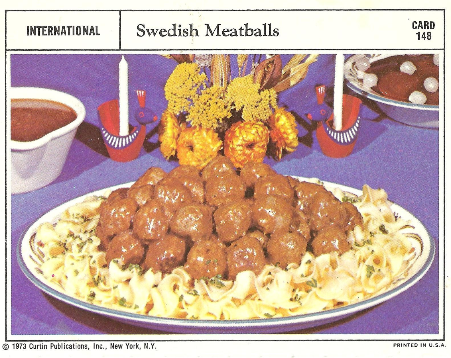 Bad and ugly of retro food the epitome of 1970s food recipe cards same meatball recipe same setting same situation same pile of balls forumfinder Choice Image