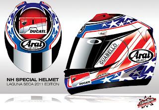 Nicky Hayden Helmet Laguna Seca 2011