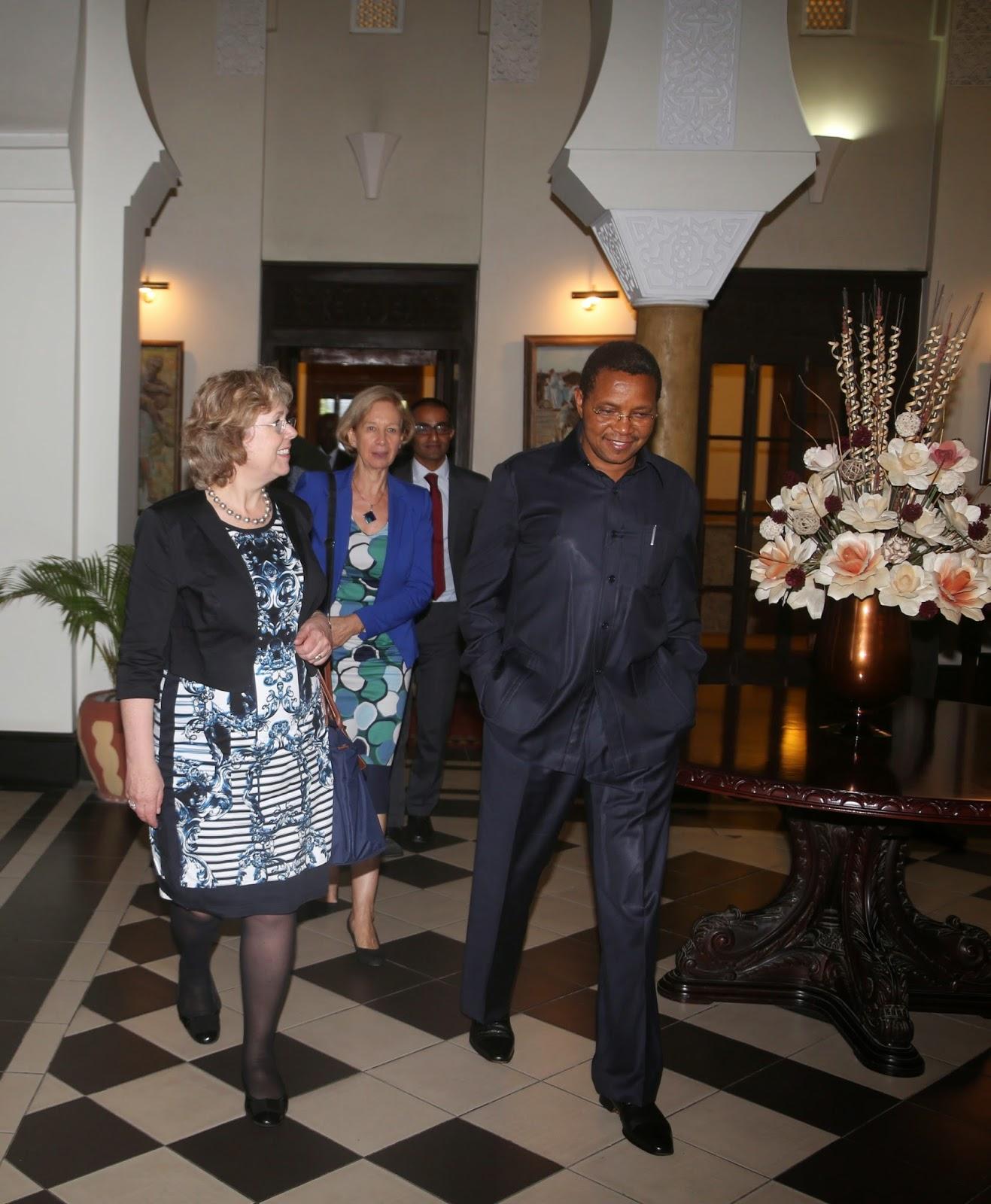President Jakaya Mrisho Kikwete Escorts Ms Baronese Lindsay Northover Uks Parliamentary Under Secretary Of State For International Development After