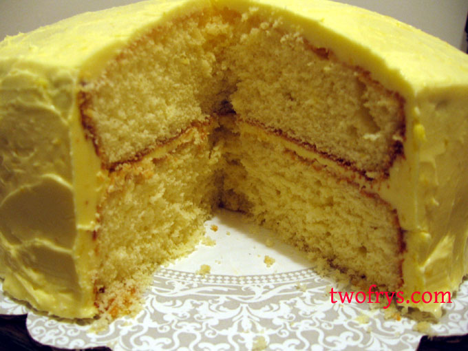 Two Frys: Lemon Layer Cake