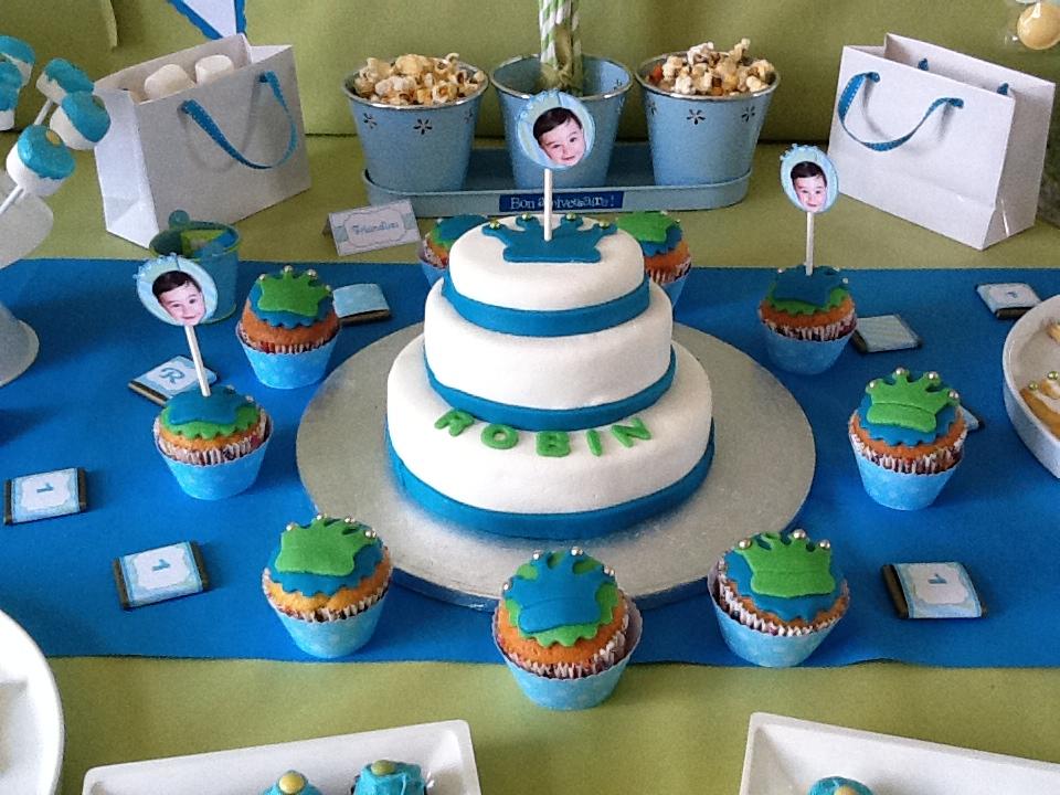 anniversaire cupcakes couronne