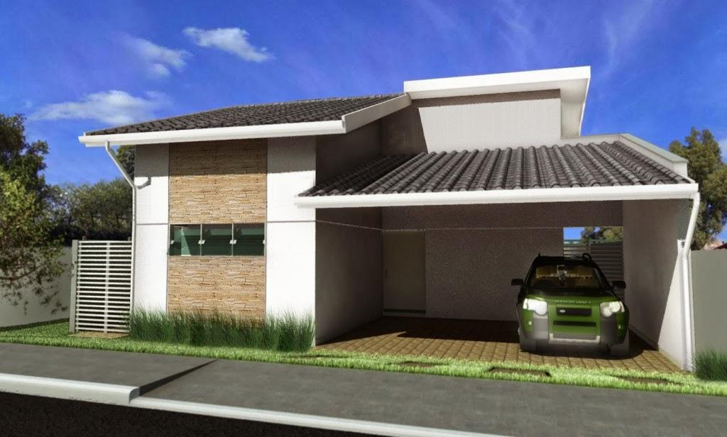Fachadas de casas simples bonitas e pequenas decorsalteado for Fachadas modernas de casas pequenas