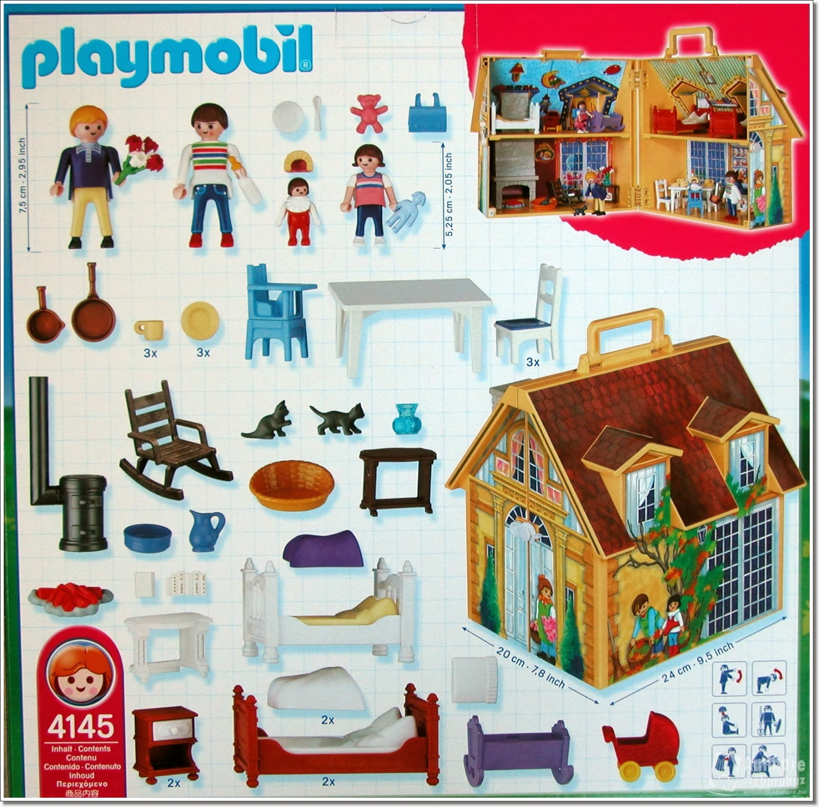 playmobil ref 4145 boite maison de famille. Black Bedroom Furniture Sets. Home Design Ideas