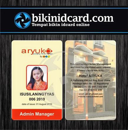 cetak id card pegawai hotel