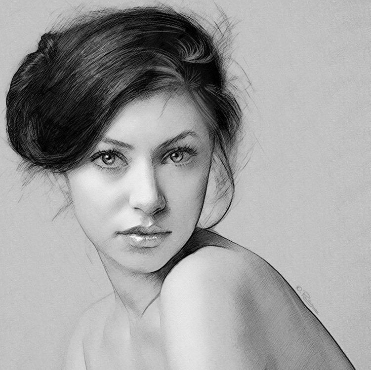 Imgenes Arte Pinturas Dibujos de rostros en tinta china muy